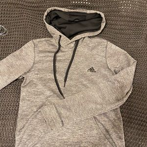 Adidas gray fleece sweatshirt